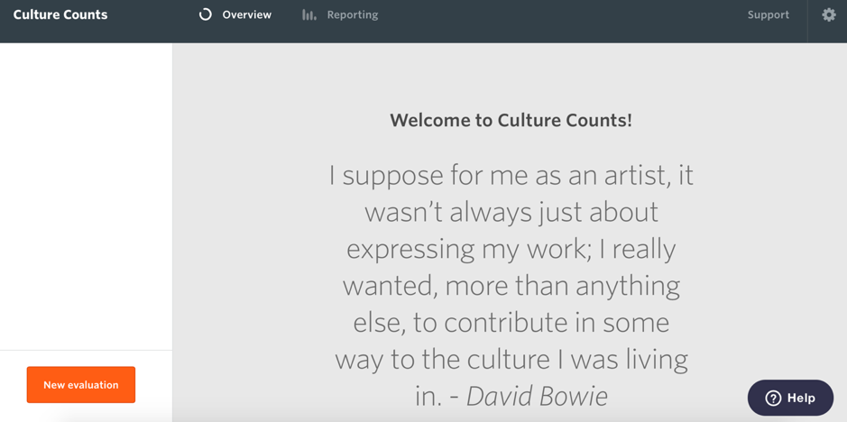 dashboard on Culture Counts